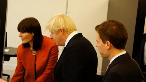 Taskhub presenting to London Mayor Boris Johnson