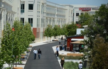 The main Facebook campus Credit: Robyn Beck Getty Images